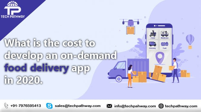 What is the cost to develop an on-demand food delivery application in 2020