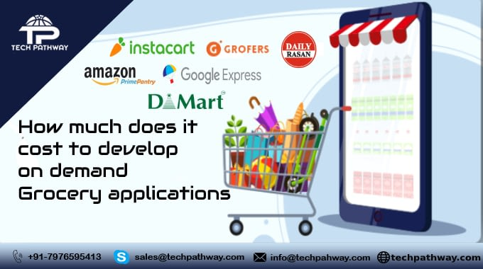 How much does it cost to develop on-demand Grocery applications in 2020