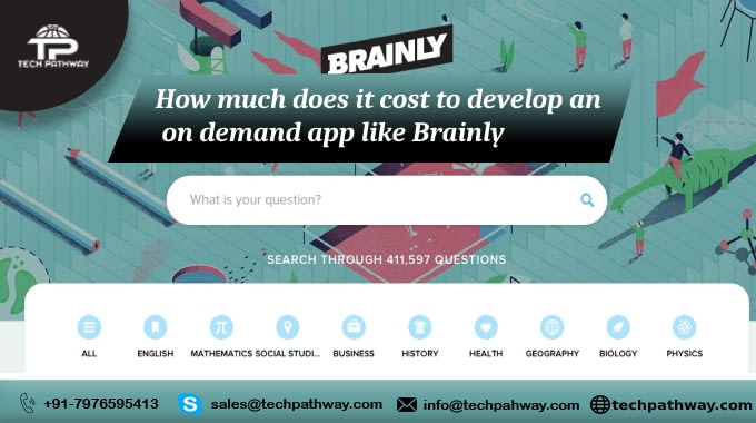 How much it costs to develop an on-demand app like Brainly.