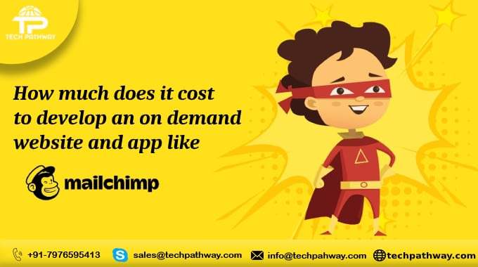 How much does it cost to develop an on-demand website and app like Mailchimp