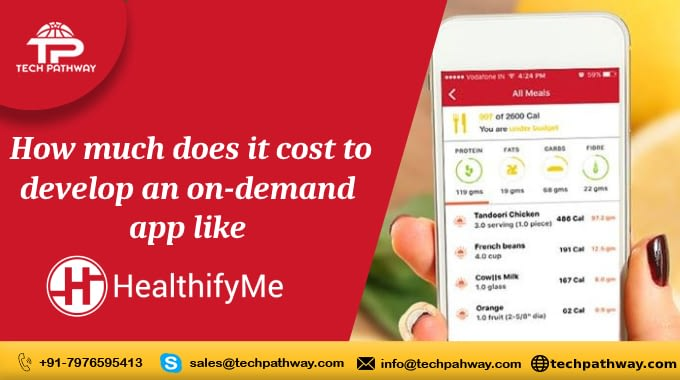 How much does it cost to develop an on-demand app like HealthifyMe