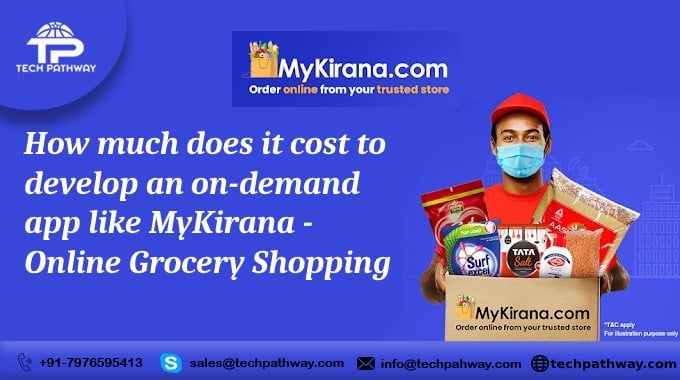 How much does it cost to develop an on-demand app like MyKirana?- online grocery shopping
