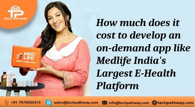 How much does it costs to develop an on-demand app like Medlife - India's largest e-health platform
