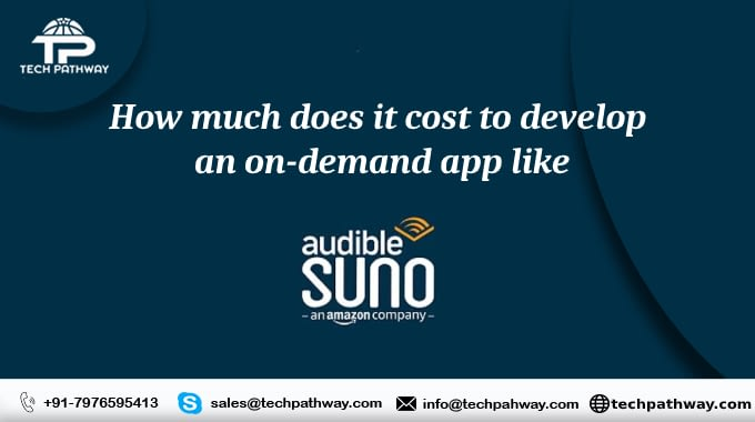 How much does it cost to develop an on-demand app like Audible Suno
