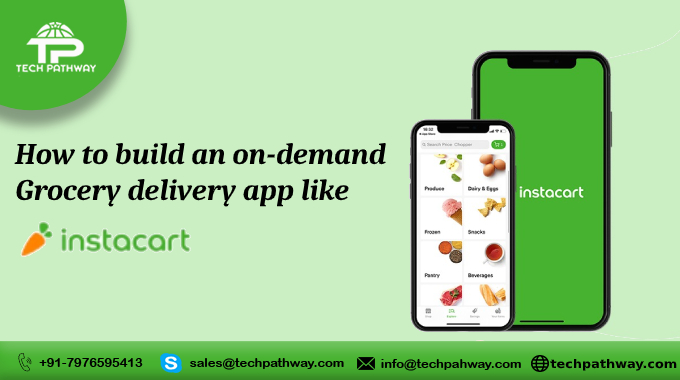 How to build an on-demand Grocery delivery app like Instacart
